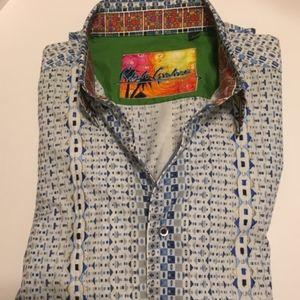 Robert Graham long sleeve button front shirt